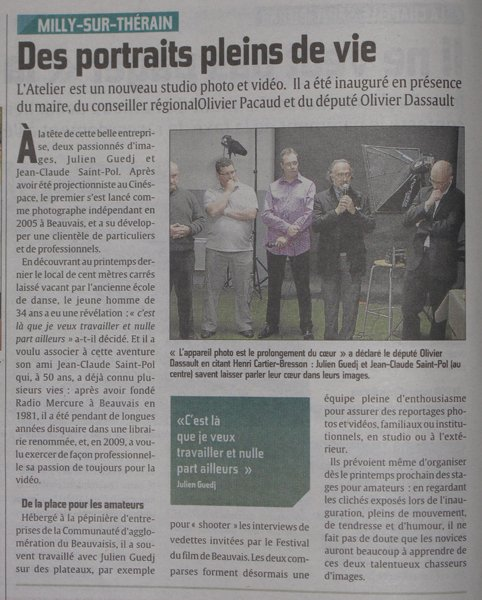 Parution - Article Courrier Picard - Samedi 10 décembre 2011 dans Journal Art-Courrier-10dec2011