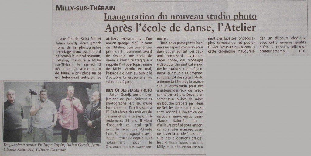 Parution - article dans l'Oise Hebdo - 7 décembre 2011 dans Journal Art-oisehebdo-071211-1024x513